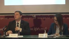 """Conferința de presă organizată de Asociația Promo-LEX cu tema """"Cotizația de membru al partidelor - subiect tabu în Republica Moldova"""""""