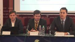 """Conferința de presă organizată de Centrul Analitic Expert-Grup de prezentare a studiului """"Planul pentru consolidarea sistemului bancar moldovenesc"""""""