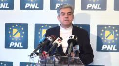 Conferință de presă susținută de liderul grupului parlamentar al PNL din Camera Deputaților, Eugen Nicolăescu, pe tema Legii prevenției în sănătate