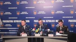 Conferință de presă organizată de Procuratura Generală privind contracararea unei grupări criminale și reținerea a cinci persoane, învinuite de punerea în circulație a banilor falși în proporții deosebit de mari