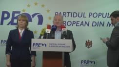 Conferință de presă organizată de fracțiunea municipală a Partidul Popular European din Moldova