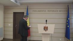 Declarațiile lui Mihai Ghimpu după întrevederea cu raportorul Parlamentului European pentru Republica Moldova, Petras Auštrevičius