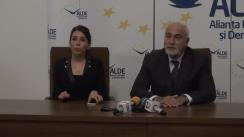 Conferință de presă susținută de senatorul ALDE Varujan Vosganian privind Legea prevenției în sănătate și propuneri pentru îmbunătățirea Codului fiscal