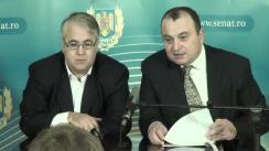 """Conferință de presă cu tema """"Strategia Partidului Național Liberal privind Republica Moldova"""" susținută de senatorul Viorel Badea și prof. univ. Radu Carp"""