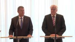 Conferință de presă susținută de președintele României, Klaus Iohannis, și prim-ministrul landului Bavaria, Horst Seehofer