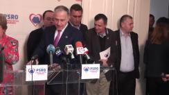 Conferință de presă după ședința comitetului liderilor PSRO