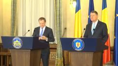 Conferință de presă susținută de președintele României, Klaus Iohannis, și președintele Consiliului European, Donald Tusk