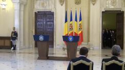 Conferință de presă susținută de președintele României, Klaus Iohannis, și președintele Republicii Moldova, Nicolae Timofti