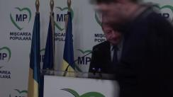 Declarație susținută de președintele Mișcării Populare, Traian Băsescu