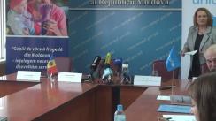 """Semnarea Memorandumului de înțelegere privind finanțarea și implementarea proiectului """"Copiii din Moldova - înțelegerea necesităților, dezvoltarea serviciilor și reformarea sistemului"""""""