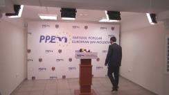 """Briefing organizat de fracțiunea municipală a Blocului Electoral """"PPEM-Iurie Leancă"""" cu privire la deblocarea situației de criză din Consiliul Municipal Chișinău"""
