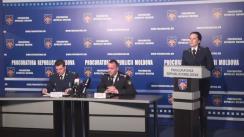Conferință de presă organizată de Procuratura Generală privind reținerea unei persoane bănuite de atacarea și spargerea mai multor site-uri, poște electronice și baze de date