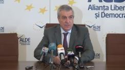 Conferință de presă susținută de copreședintele ALDE, Călin Popescu-Tăriceanu