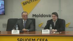 """Conferința video Chișinău-Moscova cu tema """"Opoziția moldovenească reia protestele de amploare: sarcini și obiective"""""""