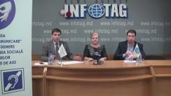 """Conferință de presă organizată de Alianța Centrelor Comunitare de Acces la Informații și Instruire din Republica Moldova cu tema """"Lansarea proiectului Edificarea unui """"pod de comunicare"""" proactivă – demers pentru incluziunea socială a persoanelor cu dizabilități de auz"""""""