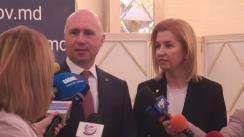 Conferință de presă susținută de prim-ministrul Pavel Filip și Bașcanul Găgăuziei, Irina Vlah