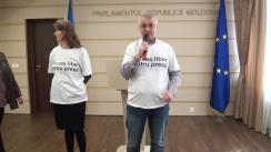 """Declarațiile jurnaliștilor participanți la evenimentul """"Vrem acces în Parlament"""""""