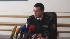 """Briefing organizat de Poliția Capitalei cu tema """"Reținerea unei grupări specializată pe vânzarea substanțelor narcotice"""""""