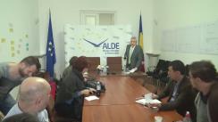 Conferință de presă susținută de copreședinții ALDE Călin Popescu-Tăriceanu și Daniel Constantin