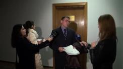 Declarațiile lui Eduard Serbenco dupa Ședința Comisiei juridice, numiri și imunități din 9 martie 2016