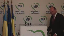Briefing de presă susținut de președintele Mișcării Populare, Traian Băsescu, în urma ședinței CEN din 15 martie 2016