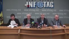 """Conferință de presă organizată de Uniagroprotect, Asociațiile Agroinform și Moldova-Fruct, Federația Națională a Fermierilor din Moldova cu tema """"Inoportunitatea majorării impozitului funciar pentru producătorii agricoli"""""""