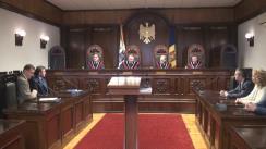 Ședința Curții Constituționale de examinare a sesizării Comisiei Electorale Centrale privind validarea mandatelor de deputat în Parlamentul Republicii Moldova