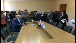 Renato Usatîi semnează acordul de colaborare între Primăria mun. Bălți și două universități din Rusia, privind oferirea studiilor gratuite pentru studenții din Bălți