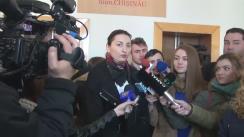 Declarațiile procurorului Adriana Bețișor după ședința de judecată din 17 martie 2016 a dosarului ex-premierului Vlad Filat