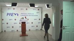 Conferință de presă dedicată aniversării unui an din momentul lansării inițiativei pentru fondarea Partidului Popular European din Moldova