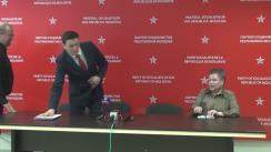 """Conferință de presă susținută de fracțiunea PSRM cu tema """"Politica statului față de pensionari este un adevărat genocid. Ce trebuie de facut în regim de urgență?"""""""
