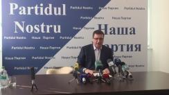 Conferință de presă susținută de liderul Partidului Nostru, Renato Usatîi