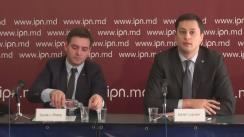 """Conferința de presă organizată de Centrul Analitic Independent Expert-Grup cu tema """"Lansăm Monitorul Financiar: Analiza reformelor din sectorul financiar din Republica Moldova"""""""