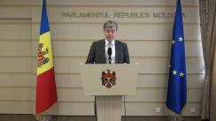 Declarațiile lui Eugen Carpov în timpul ședinței Parlamentului Republicii Moldova din 1 aprilie 2016