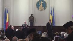 """Sesiunea solemnă """"Academia Română – 150 de ani în serviciul Națiunii Române"""""""