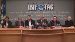 """Conferință de presă organizată de membrii consiliului administrativ al UniAgroProtect cu tema """"Referitor la demisia preşedintelui UniAgroProtect"""""""