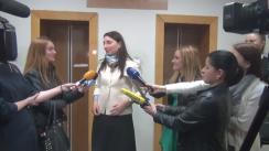 Declarațiile procurorului Adriana Bețișor după ședința de judecată din 8 aprilie 2016 în dosarul ex-premierului Vlad Filat