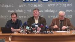 """Conferință de presă organizată de Asociația Sociologilor și Demografilor din Republica Moldova cu tema """"Impactul reformelor implementate în Republica Moldova asupra situației social-economice și politice: analiza sociologică"""""""