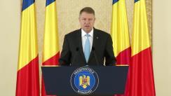 Declarația de presă a Președintelui României, Klaus Iohannis, după consultările cu grupurile parlamentare privind legislația în domeniul securității naționale