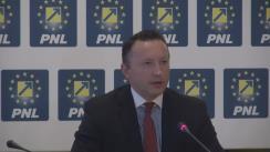 Conferință de presă susținută de deputatul PNL, Răzvan Mironescu