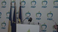 Conferință de presă susținută de președintele executiv al Partidului Mișcarea Populară, Eugen Tomac