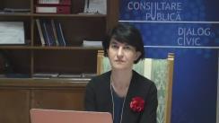 """""""De vorbă cu Ministrul tău"""". Invitat Violeta Alexandru, Ministrul pentru Consultare Publică și Dialog Civic"""