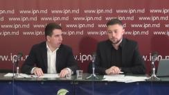 """Conferința de presă cu tema """"Dezvăluirea schemei de estorcare a banilor de la cetățeni prin intermediul parcărilor cu plată în or. Chișinău"""""""