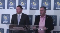Conferința de presă susținută de Cezar Preda, vicepreședinte PNL, și Răzvan Mironescu, candidat PNL la Primăria Sectorului 6