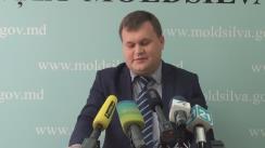 """Conferință de presă organizată de Agenția Moldsilva cu tema """"Rezultatele controalelor și reevaluării masei lemnoase în entitățile silvice și acțiunile întreprinse"""""""