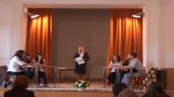 """Prima etapă a Concursului Humanitas în Licee. Colegiul Național """"I.L. Caragiale"""" vs Colegiul Național """"G. Coșbuc""""."""