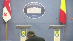 Declarații de presă susținute de ministrul Afacerilor Interne al României, Petre Tobă, și ministrul Afacerilor Interne al Georgiei, Giorgi Mghebrishvili