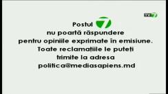 """Emisiunea """"Politica"""" cu Natalia Morari. Invitat: Grigore Petrenco"""