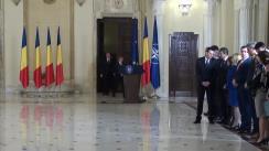 Depunerea jurământului de învestitură a domnului Cristian Ghinea în funcția de Ministru al Fondurilor Europene
