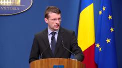 Declarații de presă susținute de purtătorul de cuvânt al Guvernului, Dan Suciu, privind domeniul sănătății